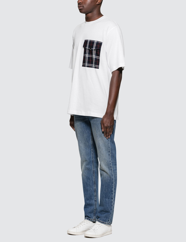 Helmut Lang Plaid Pocket T-Shirt