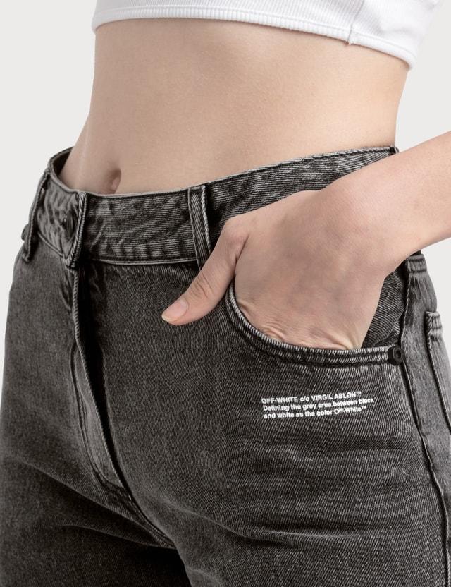 Off-White Cropped Leg Jeans =e114 Women