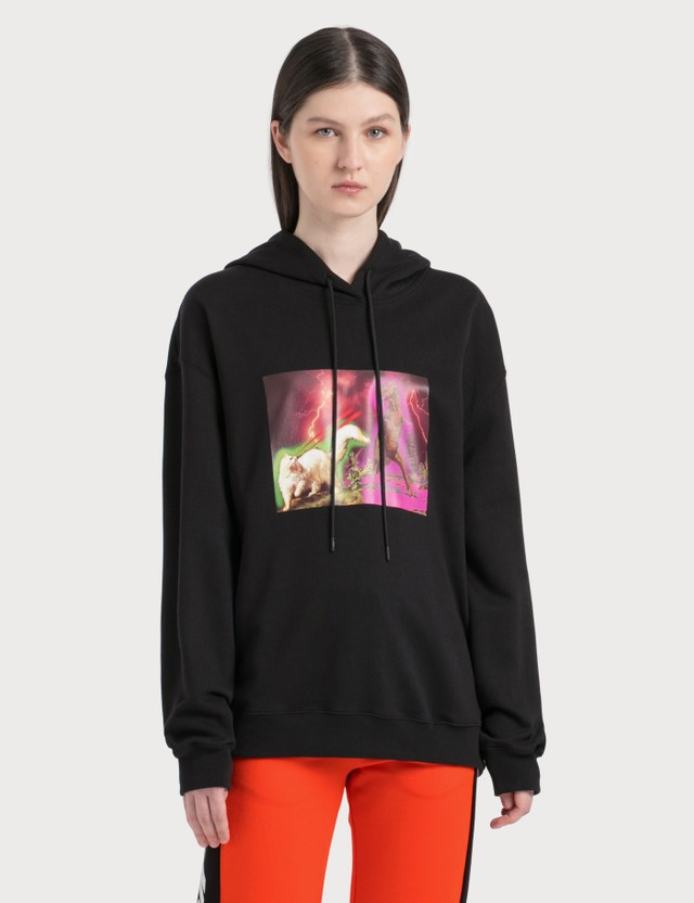 MSGM Dinosaur And Cat Graphic Print Hoodie