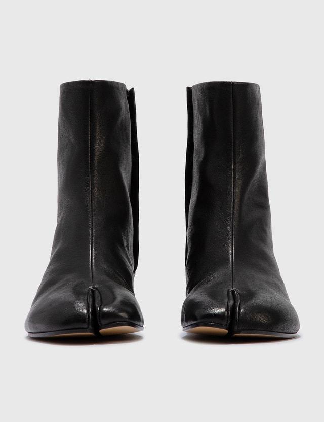 Maison Margiela Tabi Vintage Leather Boots Black Women