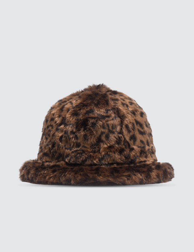 Kangol Faux Fur Casual Bucket Hat