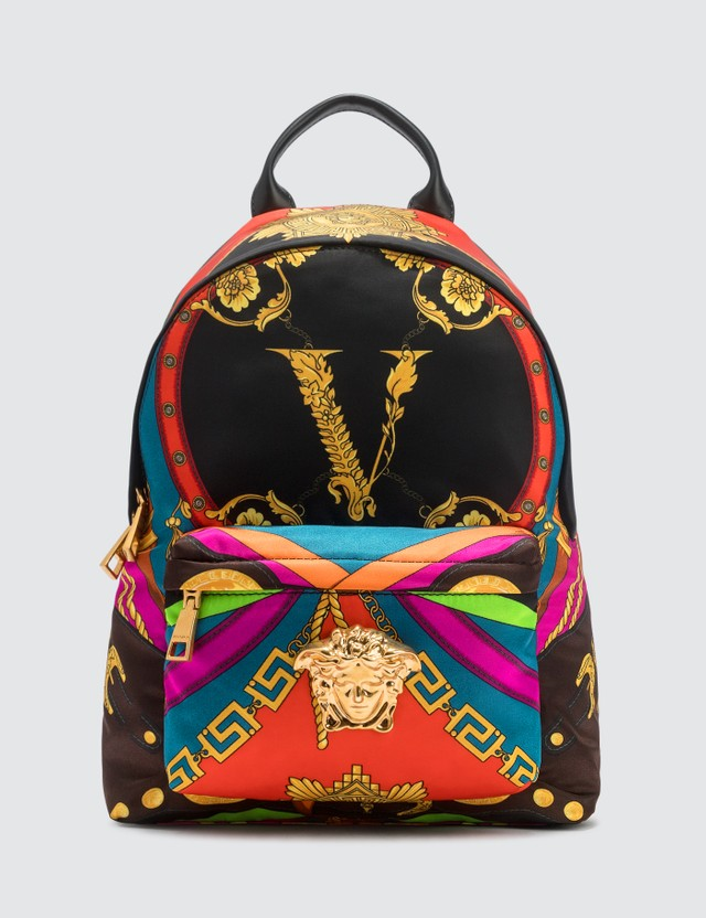 Versace Barocco Rodeo Print Palazzo Backpack