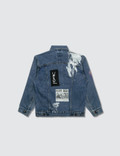 Hey Babe Hand Painted Denim Collage Jacket Salvaged Blue Denim Kids