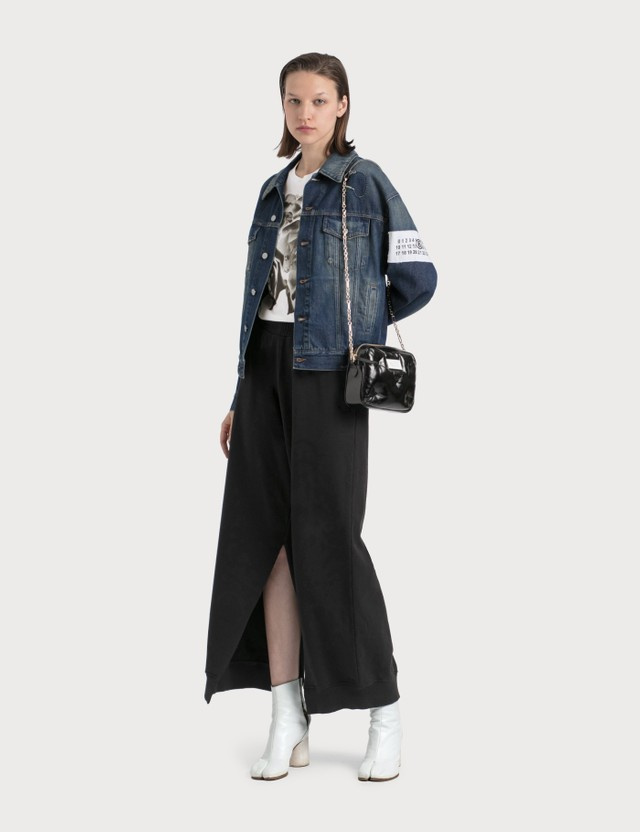 MM6 Maison Margiela Rose Print Denim Jacket