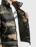 Maison Kitsune Velvet Fox Head Patch Short Down Jacket Khaki Men
