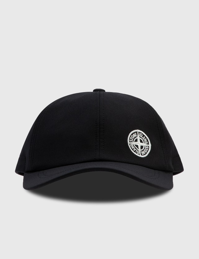 Stone Island Small Embroidered Logo Cap Black Men