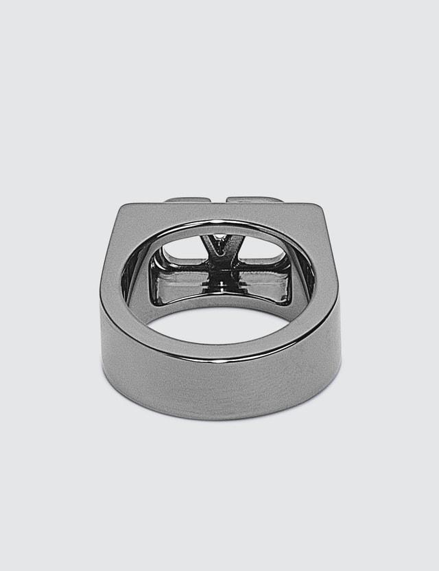 Valentino Valentino Garavani V Logo Ring Black Men