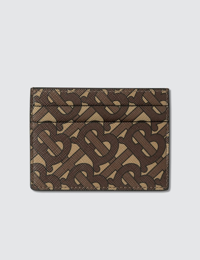 Burberry Monogram Print E-canvas Card Case
