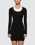 Alexander Wang.T Bodycon Basics Bi-layer Long Sleeve Mini Dress Picture