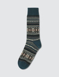 Tabio Men's Fair Isle Snow Pattern Socks Picture