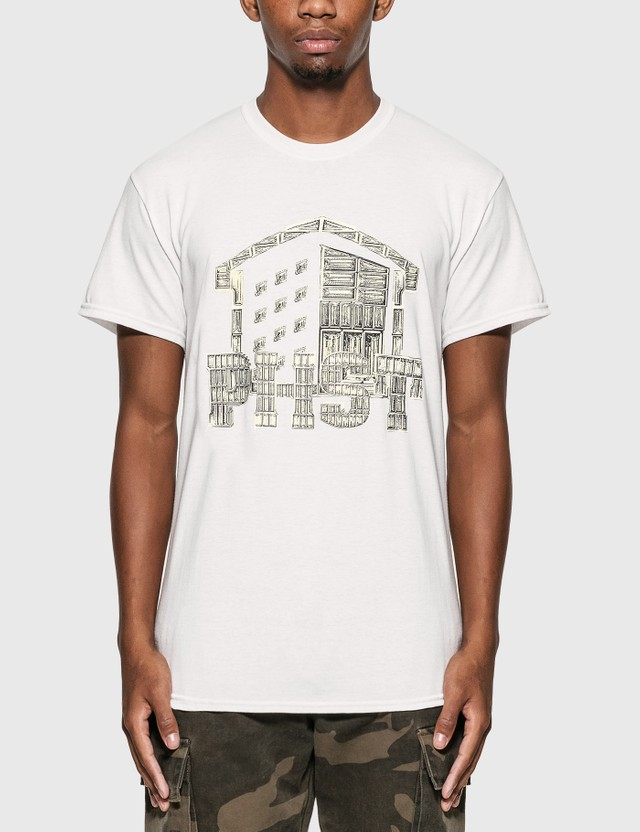 Public Housing Skate Team Shine Logo T-Shirt White Men