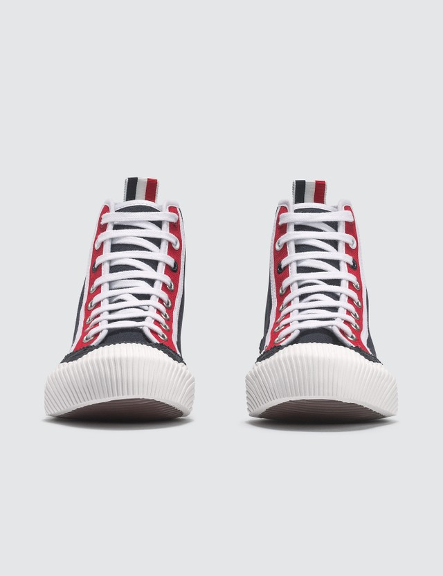 Thom Browne Brogued Hi-top Canvas Trainer