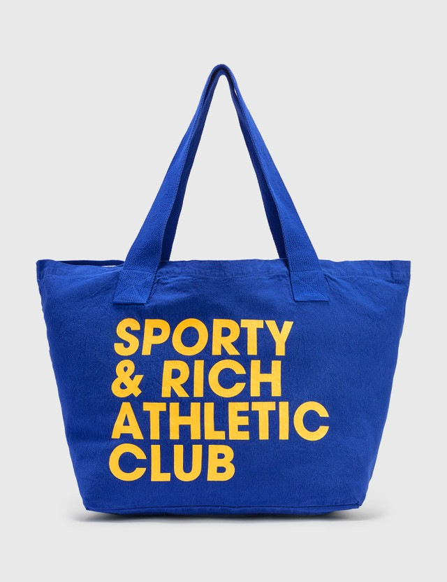 Sporty & Rich Exercise Often Tote Royal Blue/yellow Women