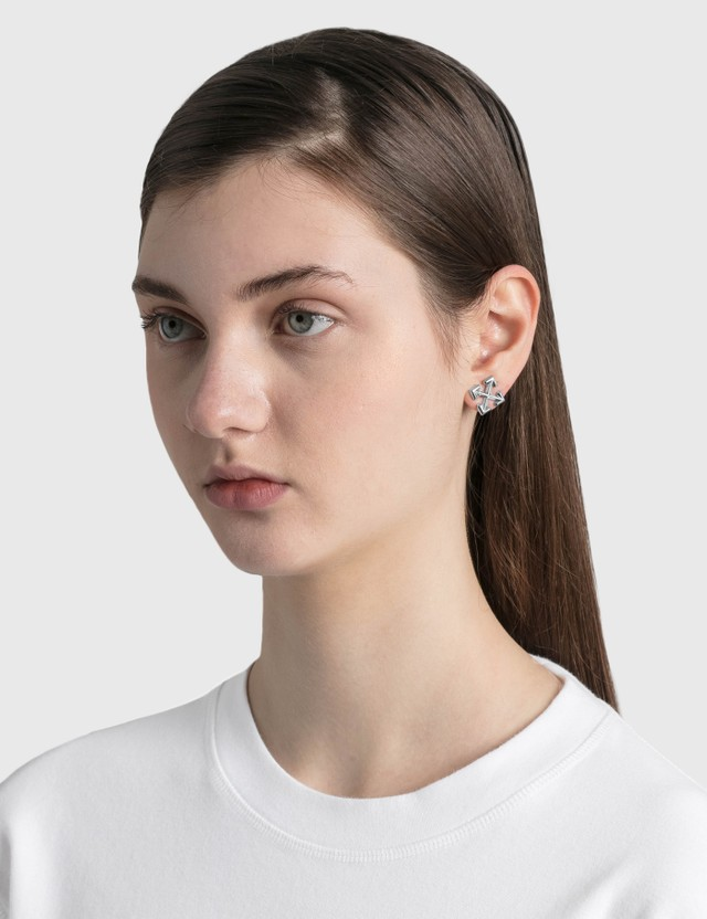 Off-White Mini Arrow Earrings Silver Women