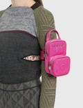 Marine Serre Mini Pocket + Upcycled Chain 7 Fuchsia Women