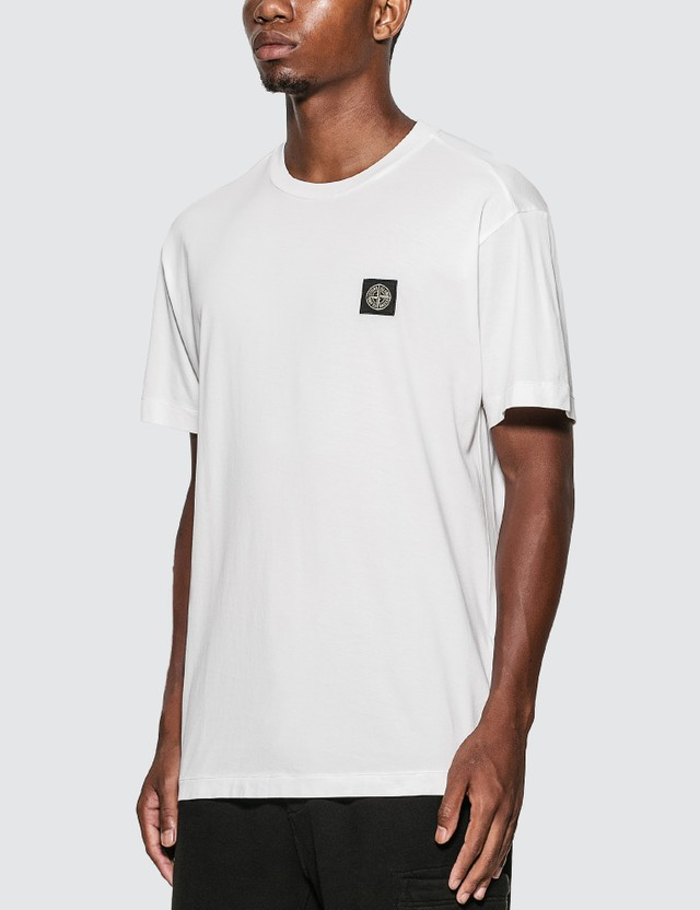 Stone Island Classic Patch T-Shirt Bianco Men