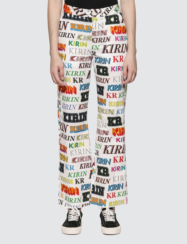 Kirin Typo Drill Wide Leg Pants