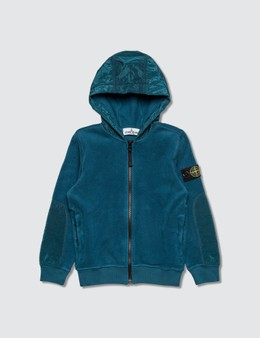 Stone Island Polar Fleece Zip Hoodie Infants