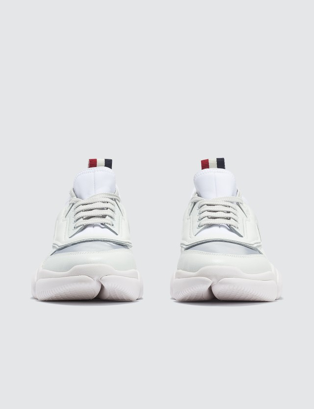 Moncler Bubble Sole Leather Sneakers