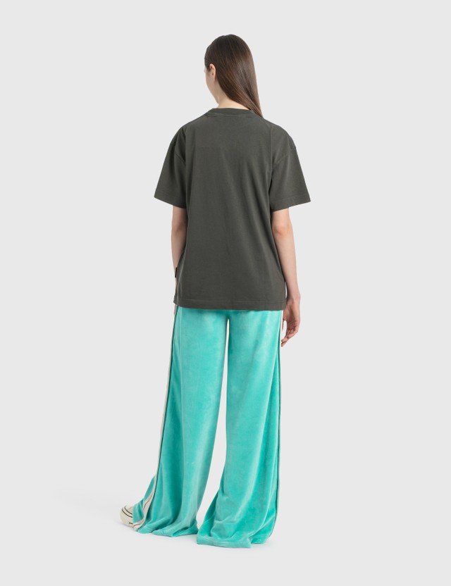 Palm Angels High-Waisted Track Pants Light Green Women