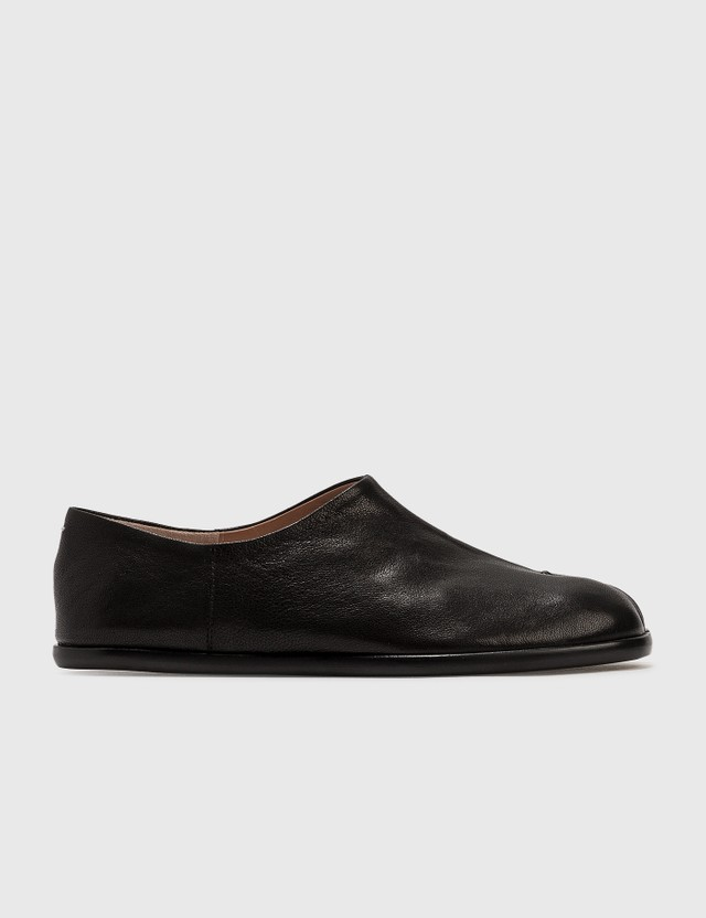 Maison Margiela Tabi Leather Slip-ons Black Women