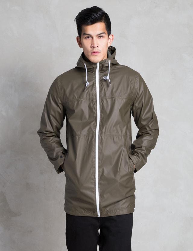 I Love Ugly. Army Green Raincoat