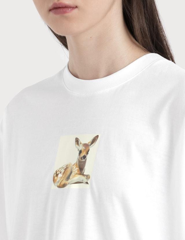 Burberry Deer Print Cotton T-shirt