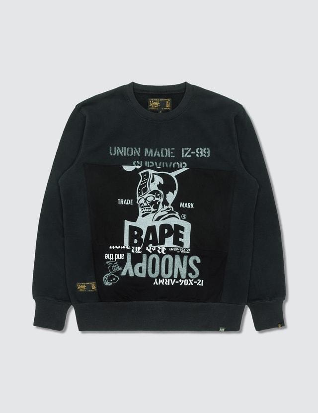 BAPE Ursus By Bape Patchwork Crew Shirt