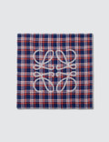 Loewe Checks Anagram Scarf Blue/red/white Men