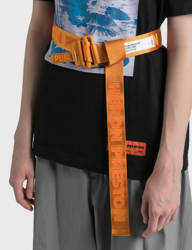 Heron Preston Classic Buckle Tape Belt Orange Women