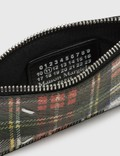 Maison Margiela Coated Leather Zip Card Holder Tartan Women