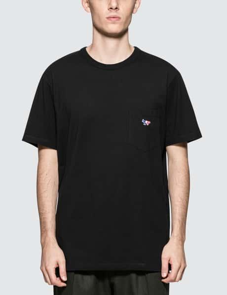 메종 키츠네 Maison Kitsune Tricolor Fox Patch S/S T-Shirt