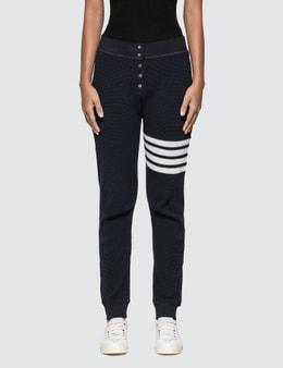 Thom Browne 4 Bar Stripe Waffle Pants