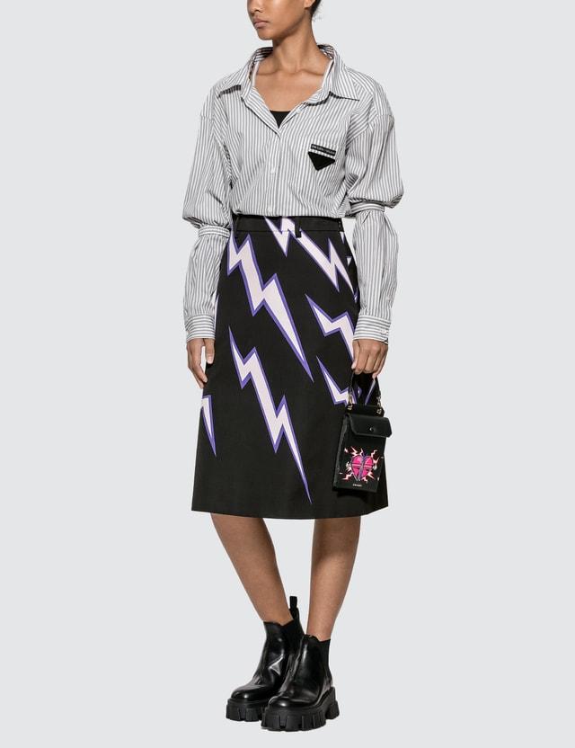 Prada Printed Poplin Skirt