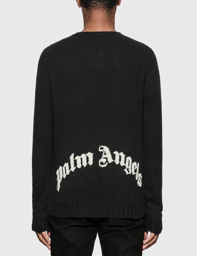 Palm Angels Back Logo Sweater Black Men