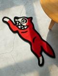 Icecream Running Dog Rug Red Unisex
