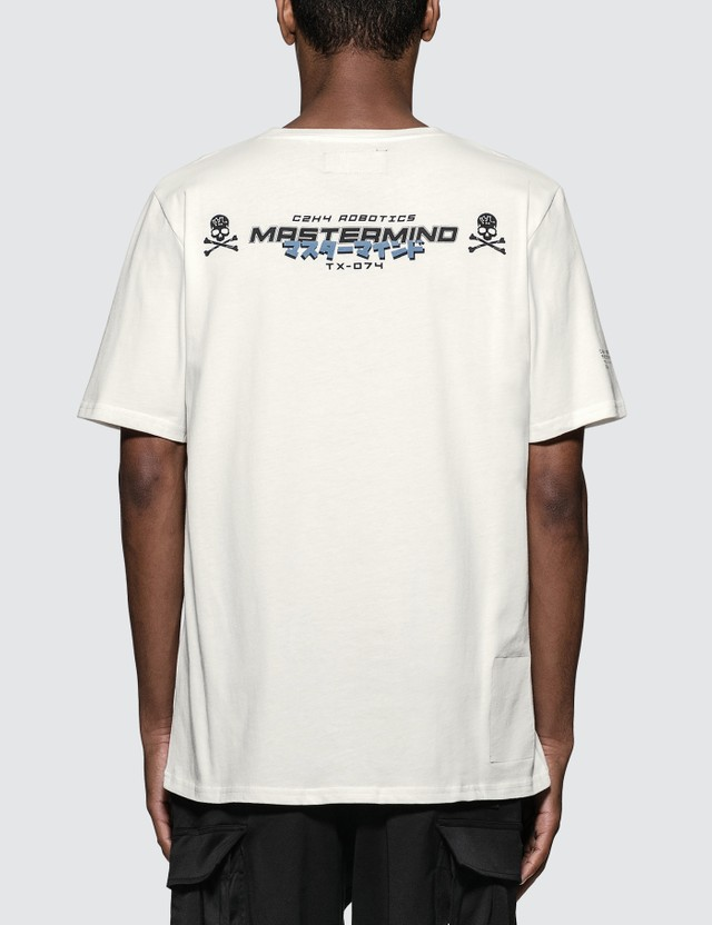 C2H4 Los Angeles C2H4 x Mastermind Japan Robotics Logo Print T-Shirt