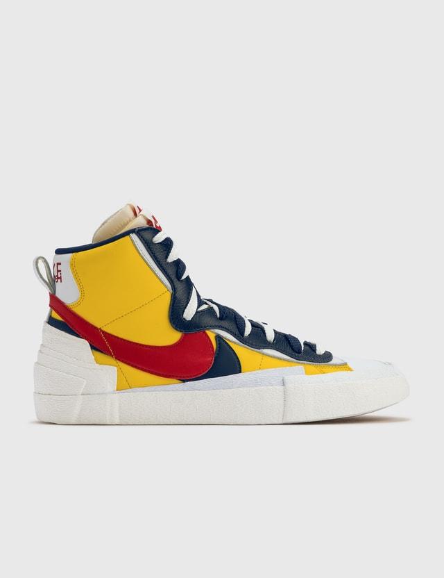 Nike Sacai X Nike Blazer Yellow/red Archives