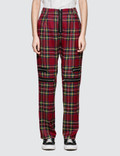 Danielle Guizio Plaid Zip Trousers Picutre