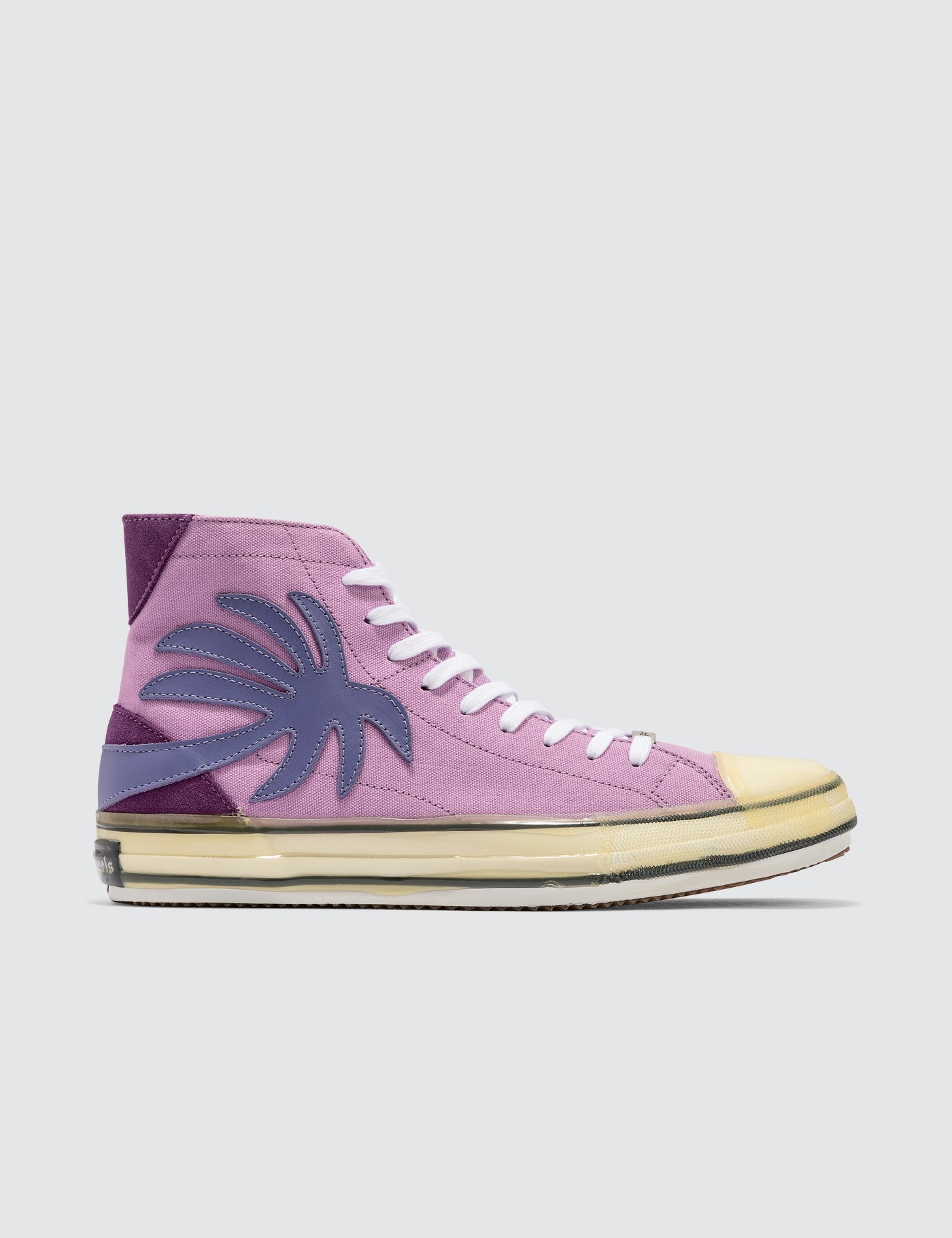 Palm Angels Canvases PALM HIGH TOP CANVAS SNEAKER