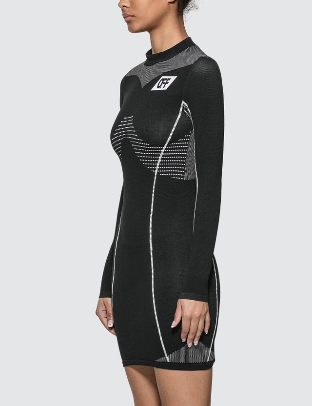 Off-White Athletic Long Sleeves Dress
