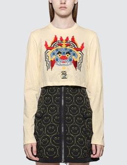 Kirin Haetae Jersey Cropped Long Sleeve T-shirt