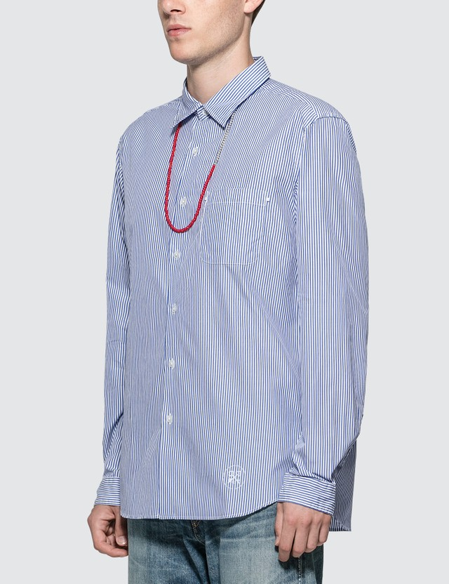 uniform experiment Beads Code Regular Collar Shirt Navy  Men