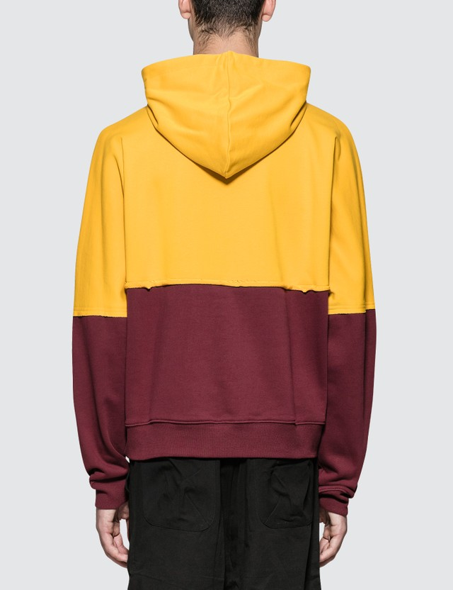 Perks and Mini S.loops Halfway Hooded Sweatshirt Yellow/burgundy Men