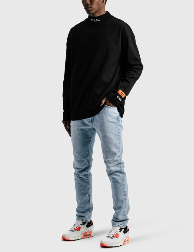 Heron Preston CTNMB Turtleneck Long Sleeve T-shirt Black Men