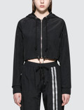 Danielle Guizio Cropped Nylon Zipped Hoodie Picture