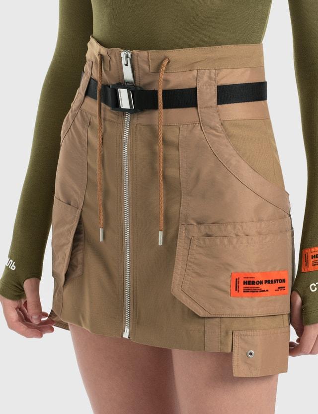 Heron Preston Tailoring Wool Cargo Skirt