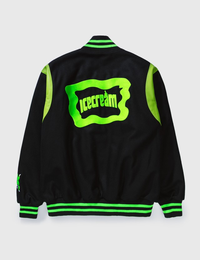Icecream Icecream × Psychworld Varsity Jacket Black Men