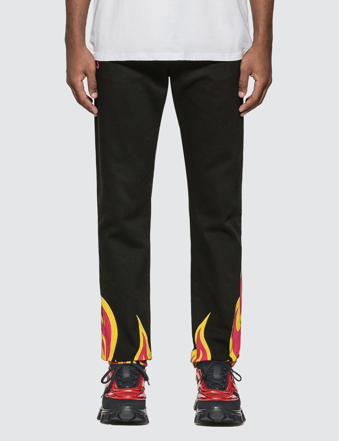 Flame Printed Jeans