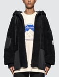 Ader Error Oversized Faux Shearling Hooded Jacket Picutre
